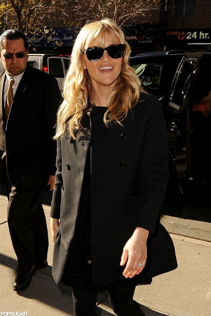 Reese Witherspoon was in good spirits on her NYC trip.