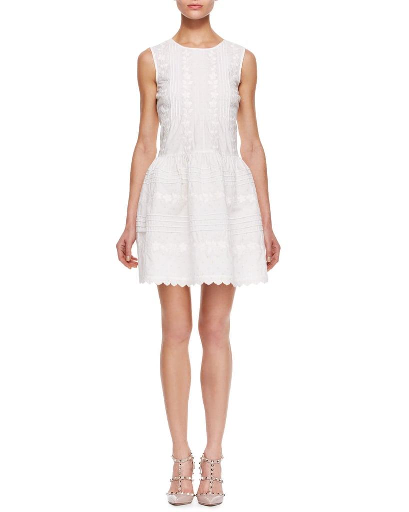 Red Valentino Sleeveless White Dress