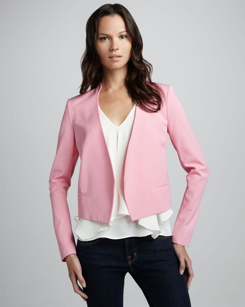 Theory's Viviette Cropped Blazer ($395) will inject a sweet pop of color to your work basics.