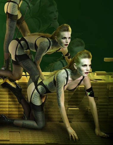 Photos of Agent Provocateur 2009 Fall Superhero Lingerie Collection