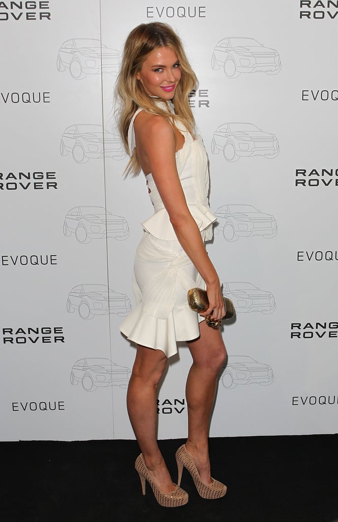 Jen struck a pose at the launch of the Range Rover Evoque in Melbourne in June 2011.