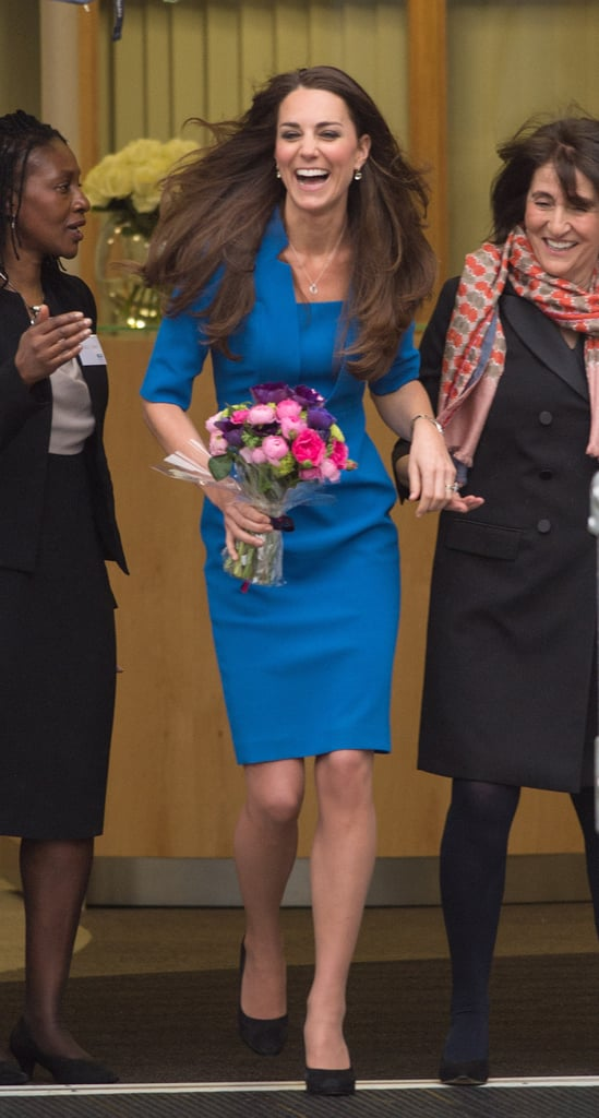 Kate Middleton had a productive Valentine's Day, visiting Northolt High School in London to officially open the ICAP Art Room.