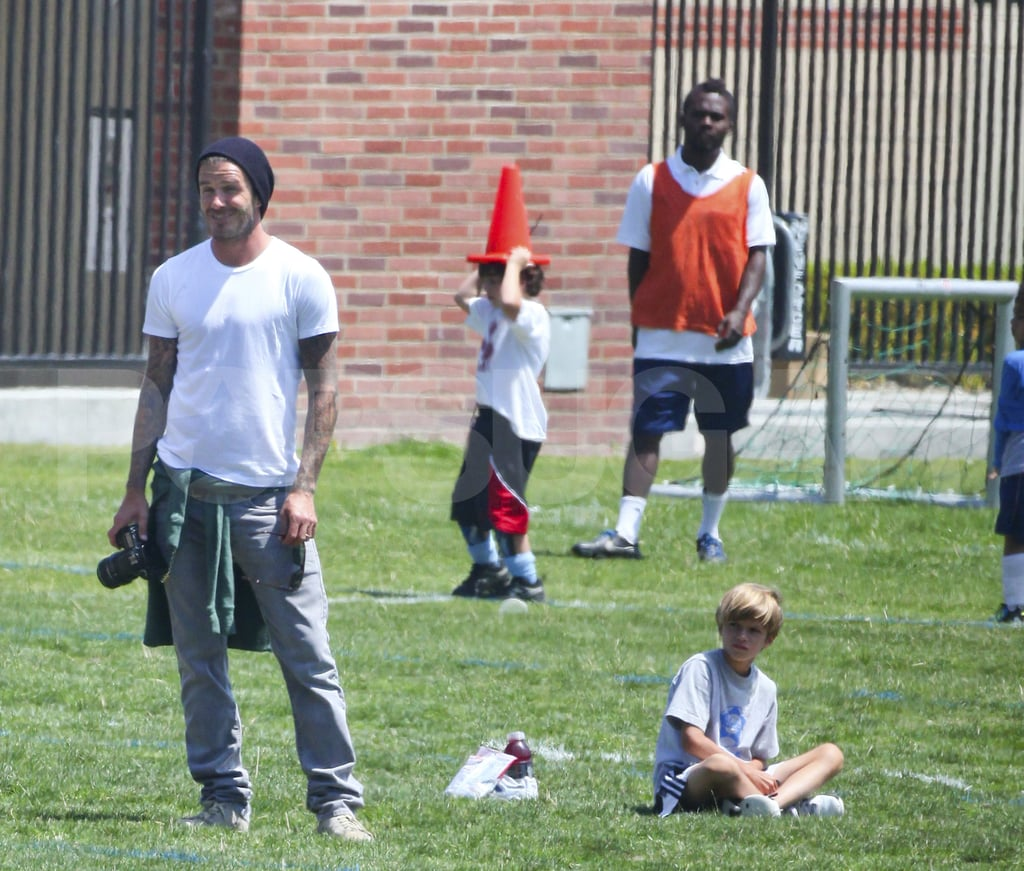 David Beckham Hits the Sidelines to Support Brooklyn's Soccer