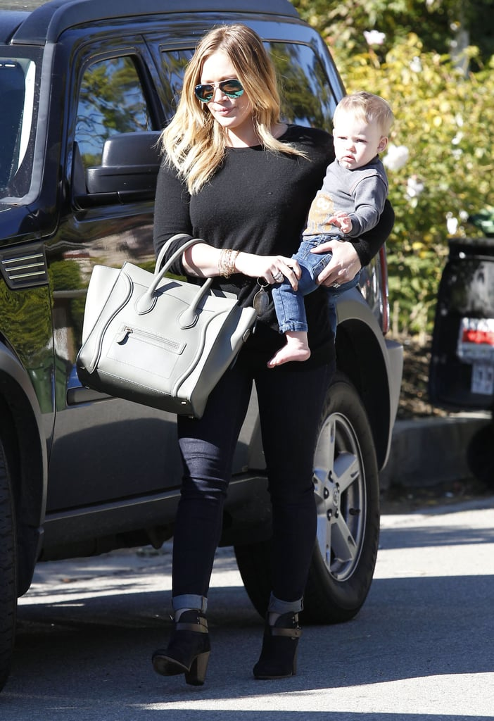 Hilary Duff hung with little Luca Comrie.