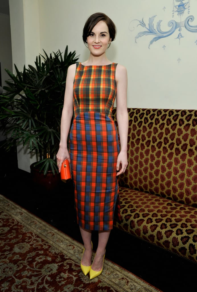 Michelle Dockery wore a colorful dress.