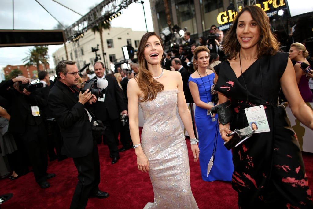 Jessica Biel Can't Stop Laughing Around Jamie Foxx