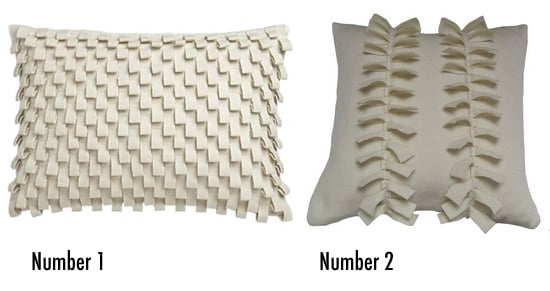 Less or More: Textured White Pillows
