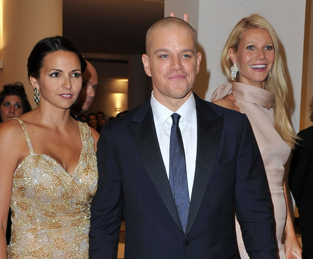 Matt and Luciana Damon with Gwyneth Paltrow at the Venice premiere of Contagion.