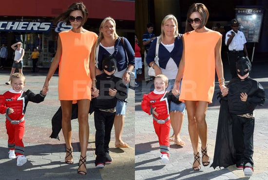 Victoria Beckham Celebrates Her Son's Birthday at Universal Studios in LA