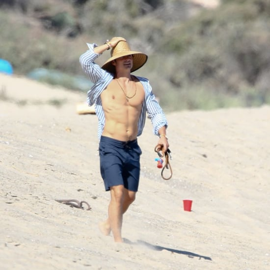 Orlando Bloom Shirtless on a Beach Pictures July 2016
