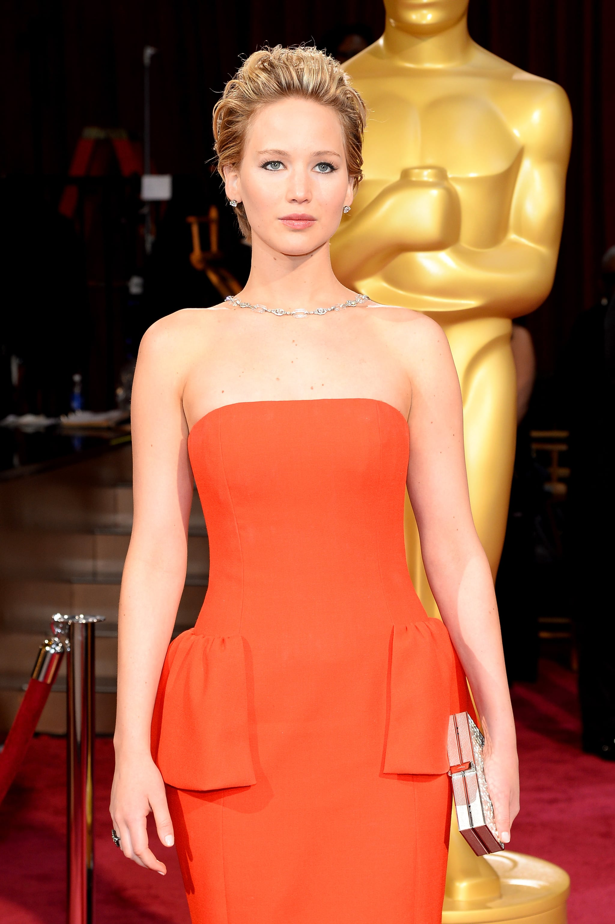 """""""If you win tonight, I think we should bring you the Oscar."""" — On Jennifer Lawrence's balance issues"""
