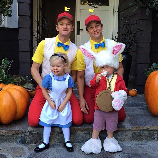 Neil Patrick Harris and David Burtka took to Instagram to post their Alice in Wonderland group costume! Source: Instagram user instagranph