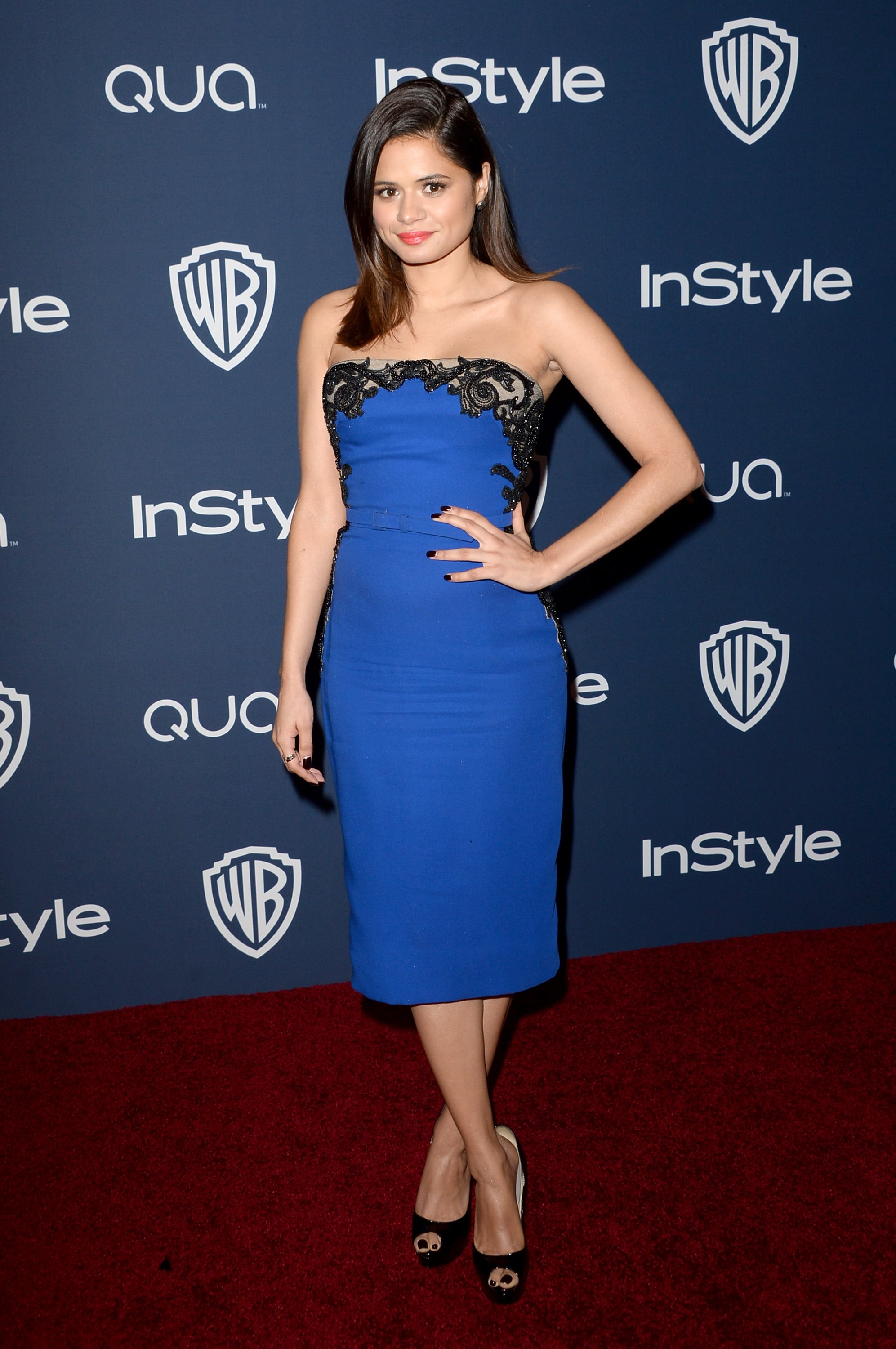 Fruitvale Station star Melonie Diaz looked gorgeous in a blue dress.