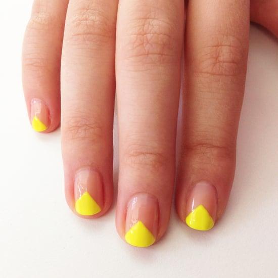 V-Shape Nail Art