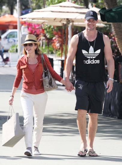 Pictures of Dannii Minogue and Kris Smith Shopping and Kissing in Miami