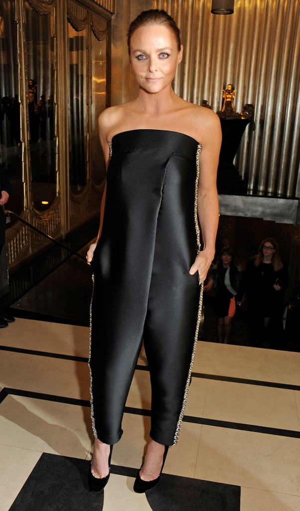 If you're more the minimalist type (and maybe against party dresses), then Stella McCartney's strapless jumpsuit from her own line would be a fantastic alternative. Feel free to amp it up with a white blazer.
