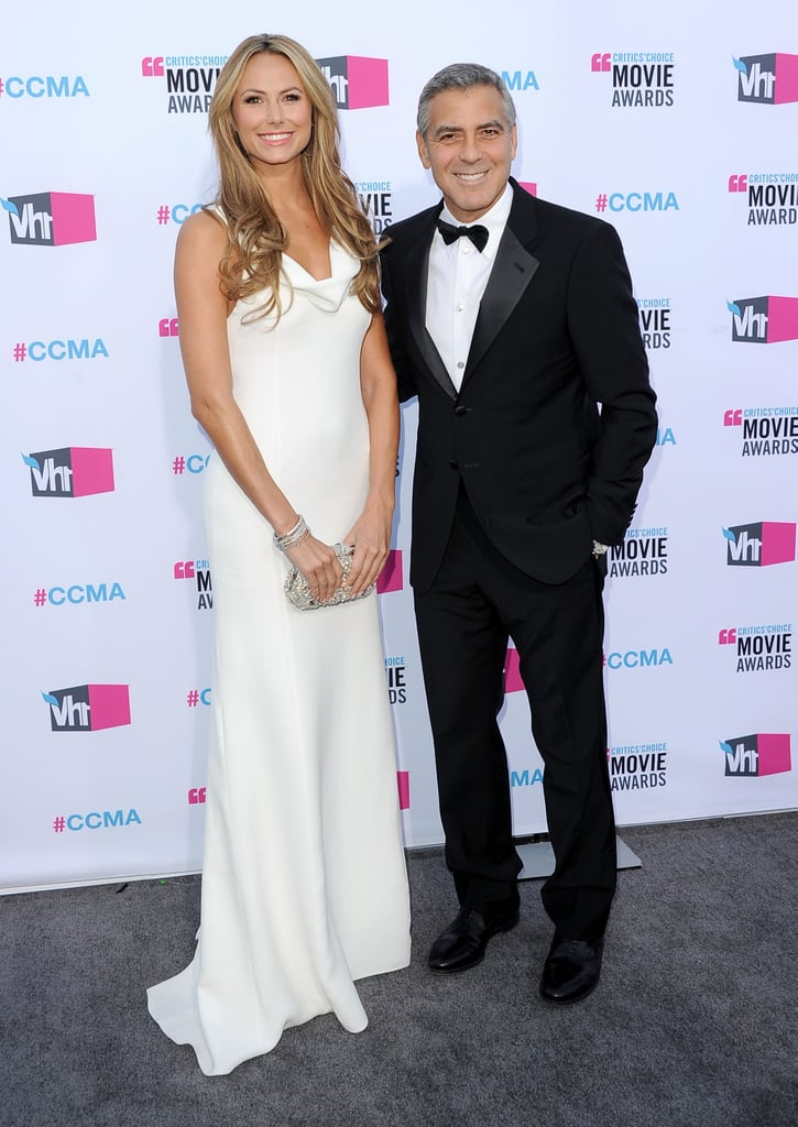 George Clooney and Stacy Keibler arrived at the Critics' Choice Movie Awards