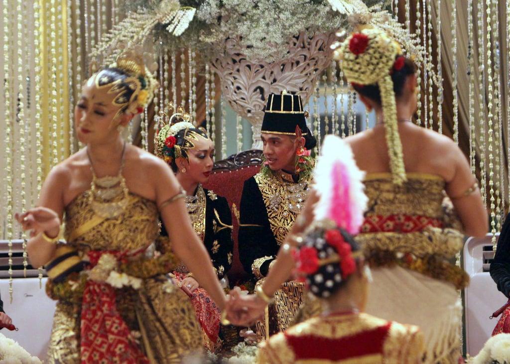 Gusti Kanjeng Ratu Bendara and Kanjeng Pangeran Haryo  The Bride: Gusti Kanjeng Ratu Bendara, the youngest daughter of the Indonesia monarch. The Groom: Kanjeng Pangeran Haryo. When: Oct. 18, 2011. Where: The sultan's palace in Yogyakarta on Java island.