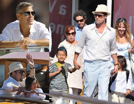 Brad, Mad, Pax, and George Descend on Venice Film Festival!