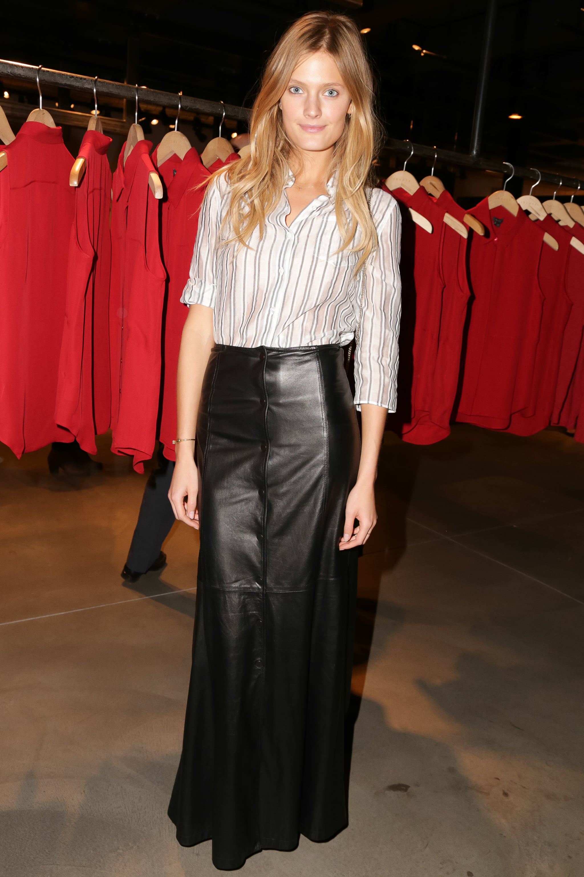 Constance Jablonski at Theory's (Red) event.