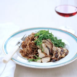 Fast & Easy Dinner: Red Wine Risotto With Grilled Chicken