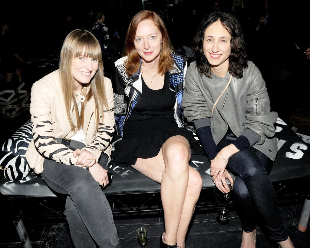 Amy Astley, Anne Christensen, and Nicole Phelps at the JW Anderson for Versus launch party. Source: Billy Farrell/BFAnyc.com