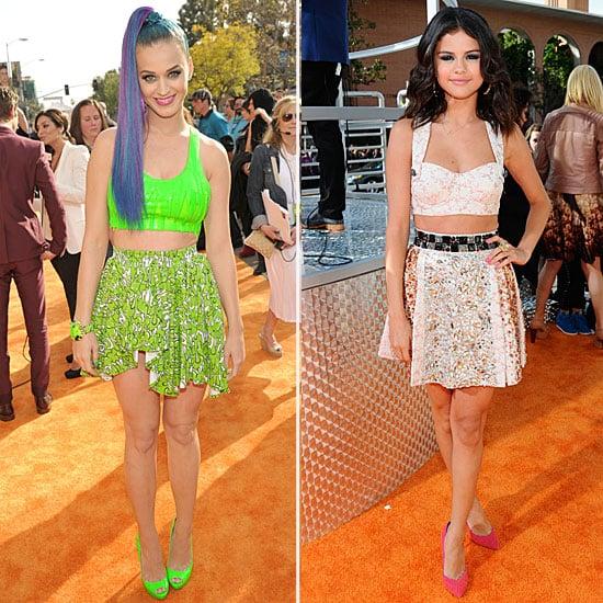 Kids' Choice Awards Selena Gomez, Katy Perry Wear Crop Tops