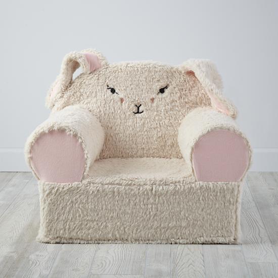 Furry Animal Bunny Nod Chair Cover