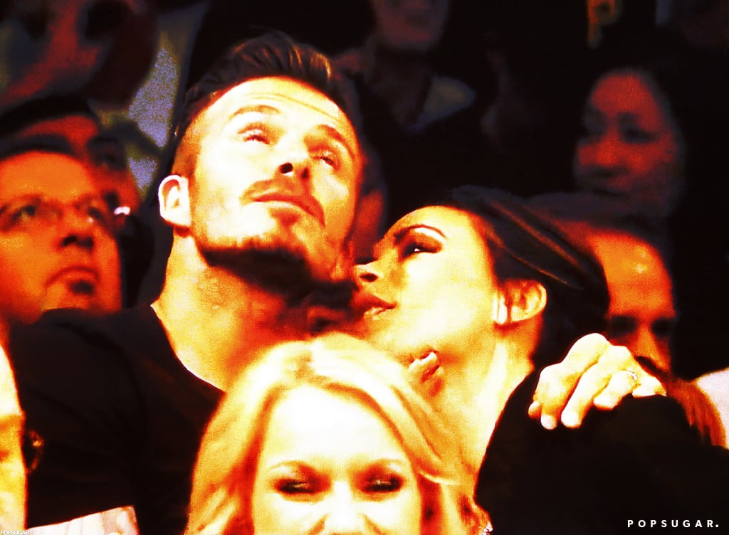 David Beckham and Victoria Beckham almost kissed!