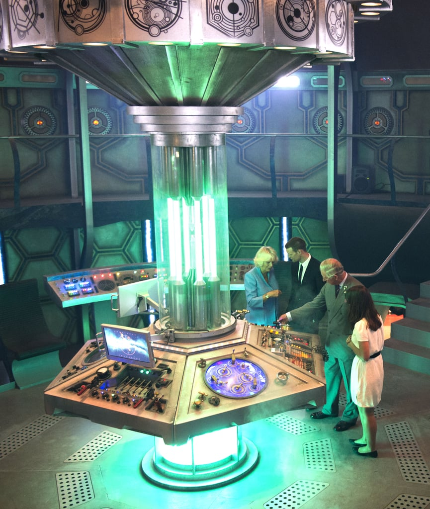 A tour of the Doctor Who studio isn't complete without a rundown of every gadget and gizmo at the TARDIS command center.