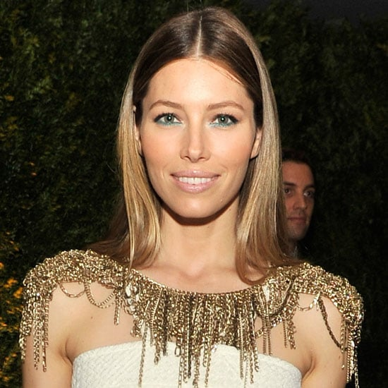 Jessica Biel at Moma Gala Film Benefit With Green Eyeliner