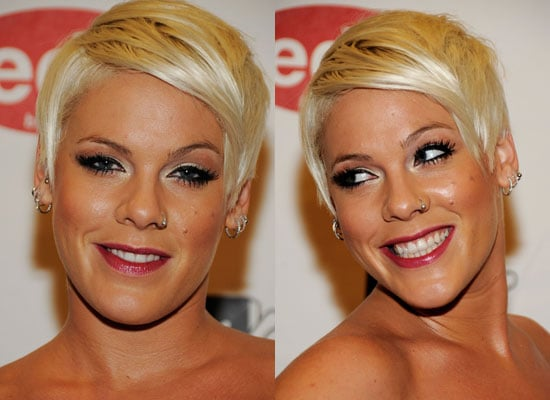 Pink's Hair and Makeup at the 2008 MTV Europe Music Awards