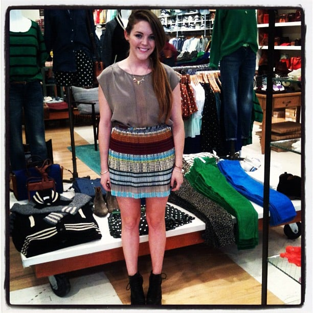 FabSugarTV host and producer Allison McNamara mixed her Madewell stripes well at the LA event.