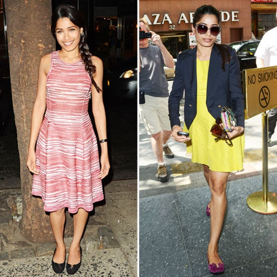 Freida Pinto Shows More Short and Sweet Looks on Her Trishna Promo Tour
