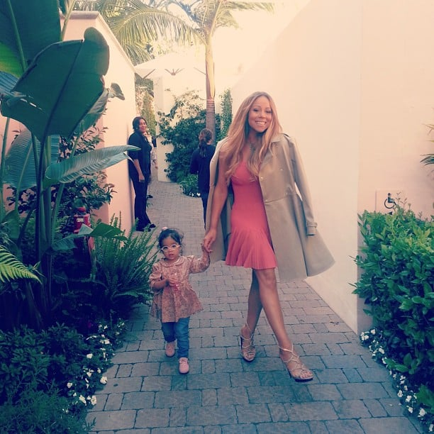 Monroe Cannon escorted her mama out the door before a taping of American Idol. Source: Instagram user mariahcarey
