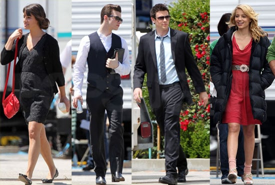 Cory, Lea, Dianna, and Their Glee Gang Change It Up on Set as The Warblers' CD Hits Stores