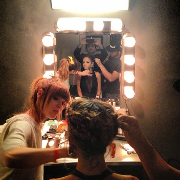 Nicole Richie got primped for her appearance on Jimmy Kimmel Live earlier this week. Source: Instagram user nicolerichie