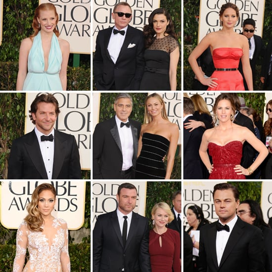 Celebrities on the Golden Globes 2013 Red Carpet