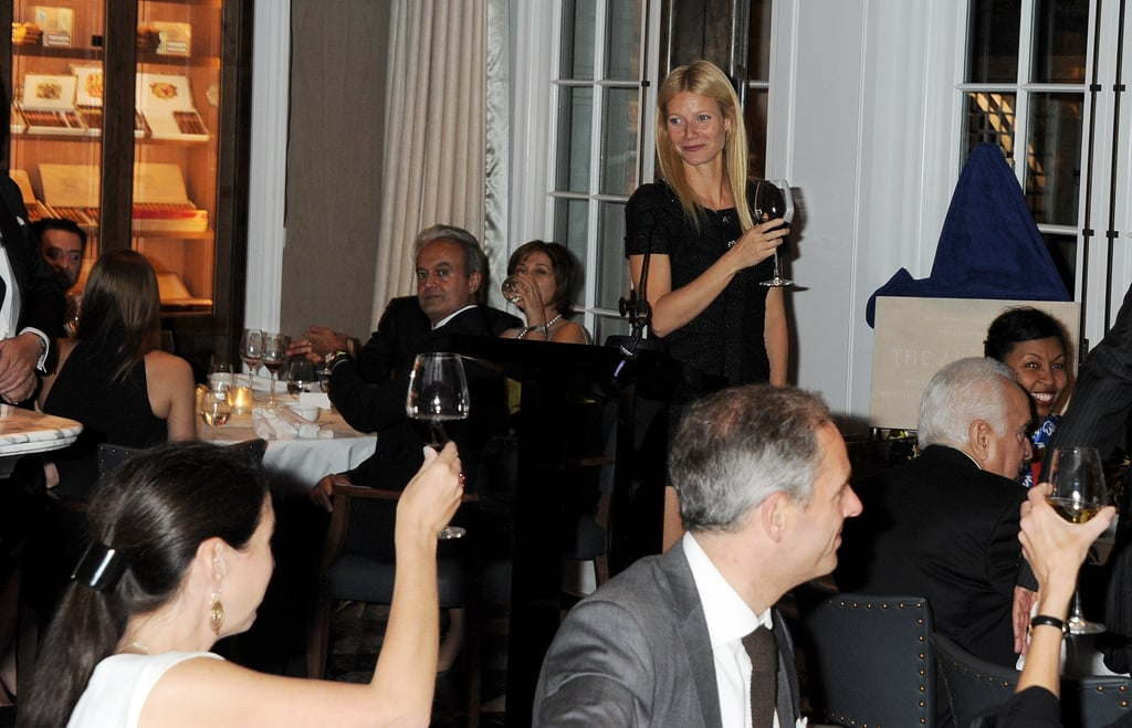 Gwyneth Paltrow proposes a toast!