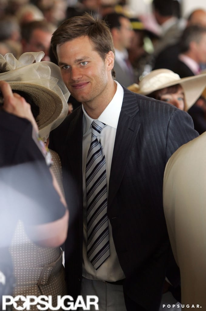 Tom Brady was on hand in 2008 to watch the horse races.