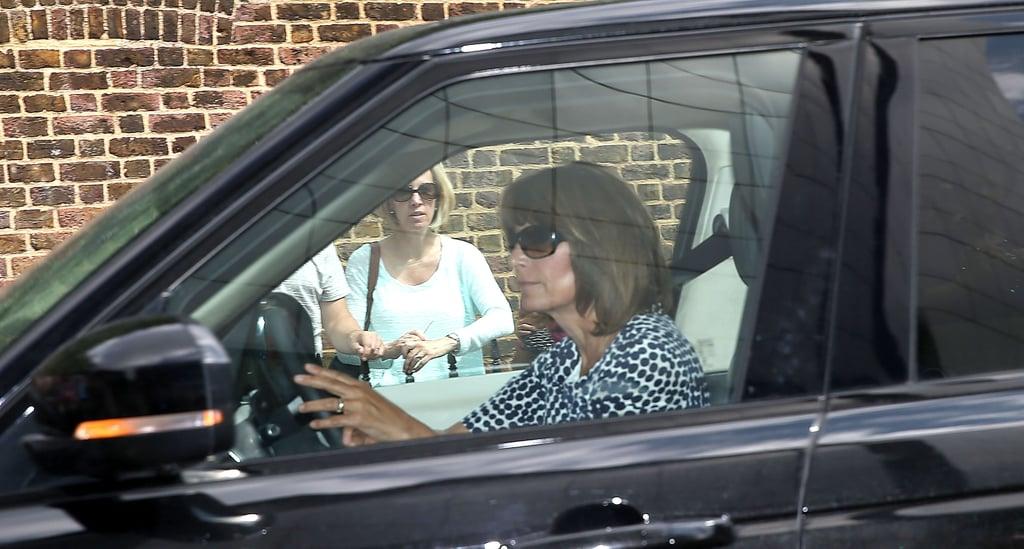 Carole Middleton drove into Kensington Palace.