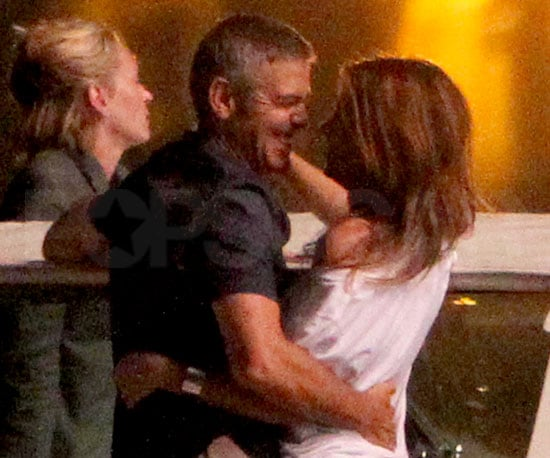 Slide Picture of George Clooney and Elisabetta Canalis in Lake Como, Italy