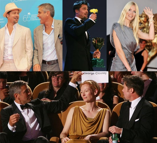 Photos From The 2008 Venice Film Festival Featuring George Clooney, Brad Pitt, Tilda Swinton and Claudia Schiffer