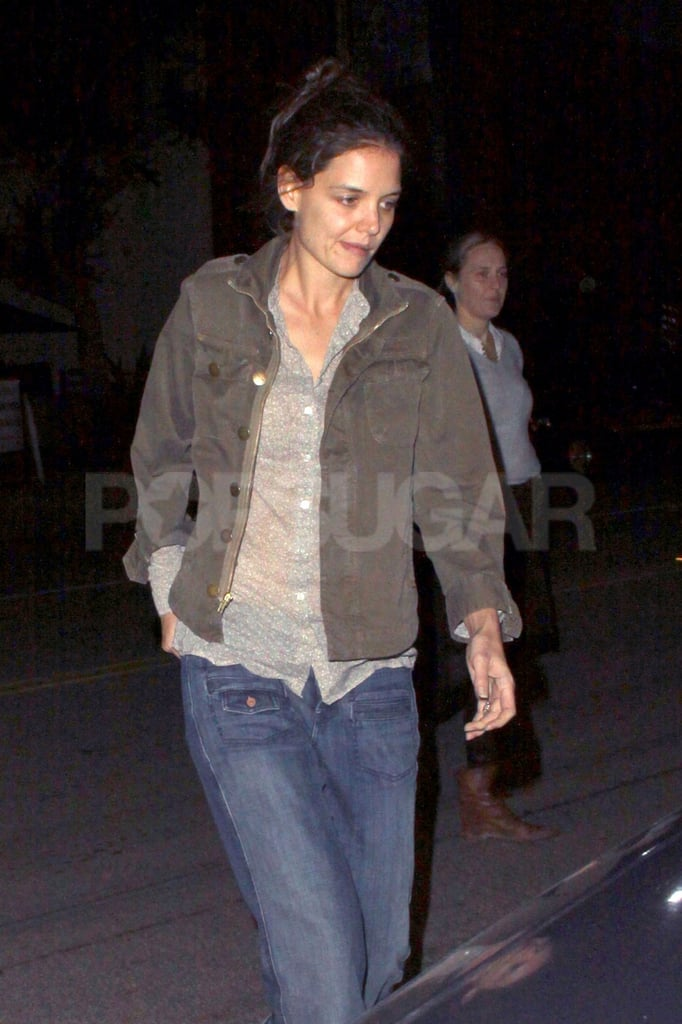 Katie Holmes spent a night out in LA.