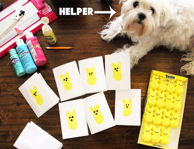 Peep Stamp Cards