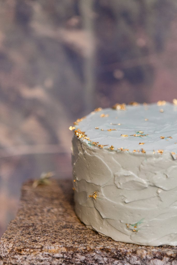Just a hint of texture and edible embellishment make this one whimsical dessert.