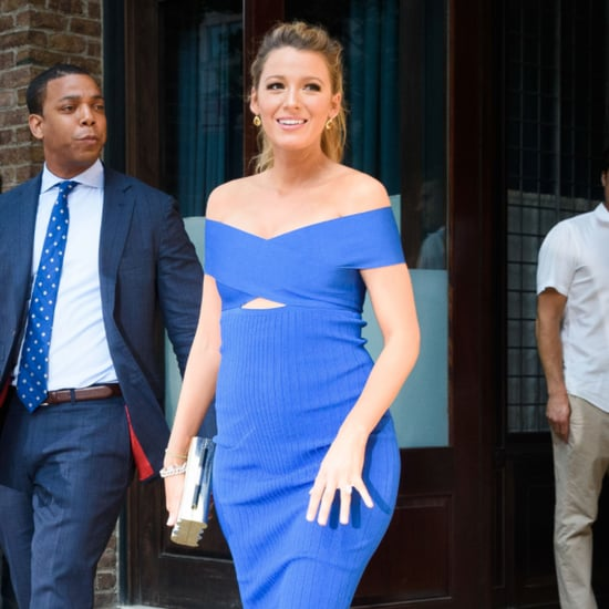 Blake Lively Wearing a Blue Cutout Dress June 2016