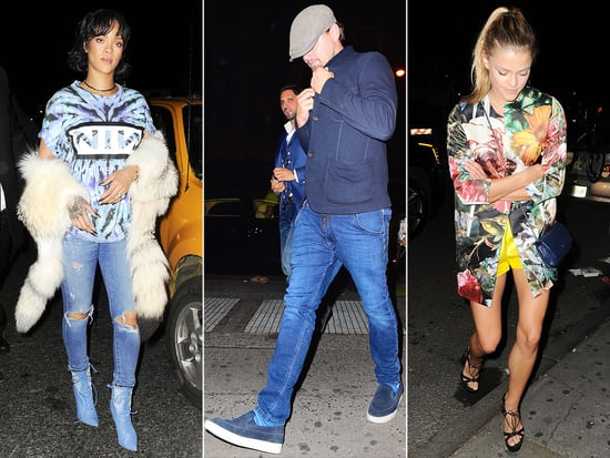 Leonardo DiCaprio Parties at N.Y.C. Nightclub with Rihanna and Model Nina Agdal