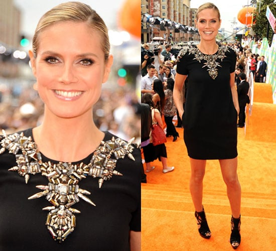 Heidi Klum in Gucci at the Nickelodeon Kids' Choice Awards 2011