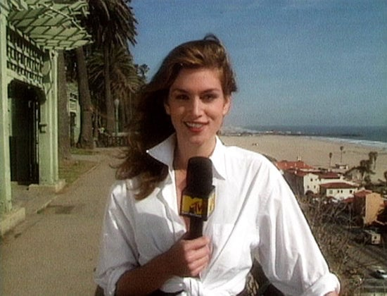 Cindy Crawford, pictured, and Rebecca Romijn hosted the fashion cult show House of Style on MTV, bringing insider interviews and the supermodel lifestyle to the mass audiences. Now, after the original 1989 to 2002 run, the show was brought back to life in late 2012 with new hosts Karlie Kloss and Joan Smalls at the helm.